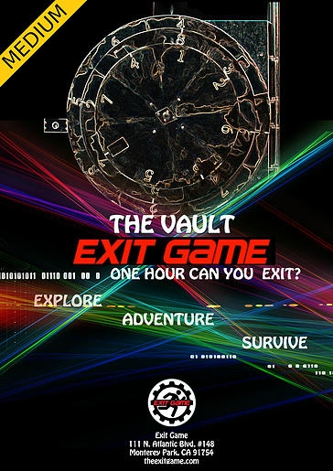 Escape Game The Vault, Exit Game. Los Angeles.